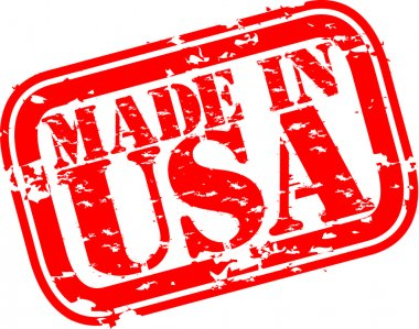 Grunge made in USA rubber stamp, vector illustration