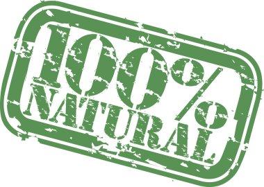 Grunge 100 percent natural rubber stamp, vector illustration
