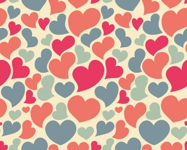 Nice seamless pattern with lot of hearts clip art vector