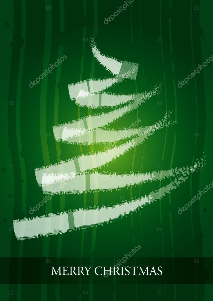 Kerstkaart Met Abstract Kerstboom Stockvector C Eltoro69 8032437