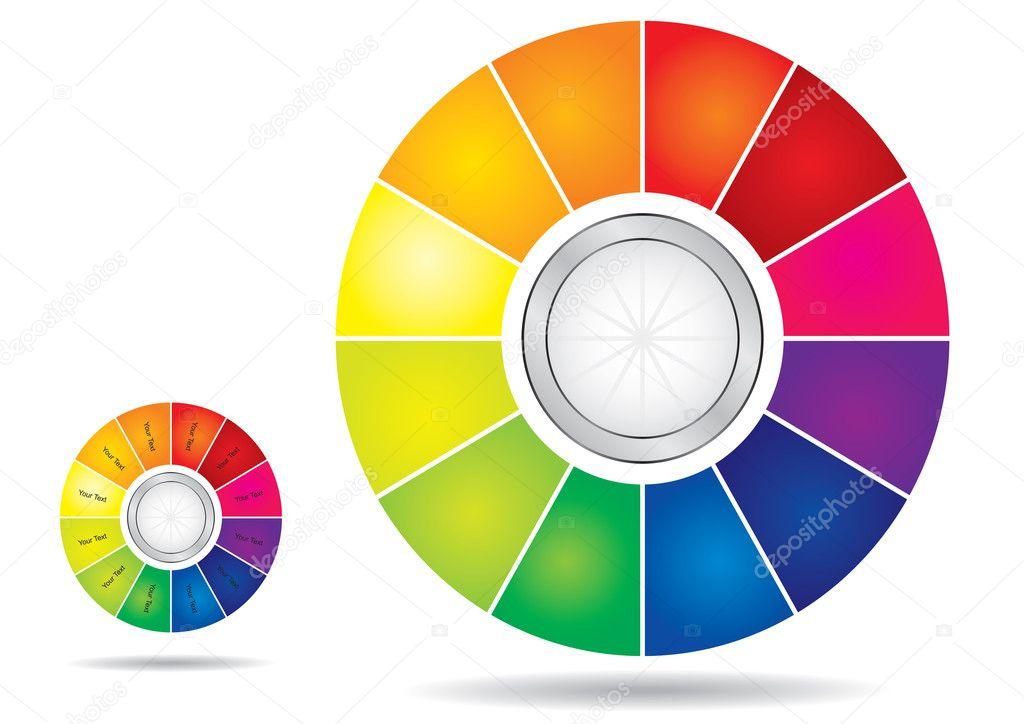 Editable color wheel template — Stock Vector © eltoro69 #8309492