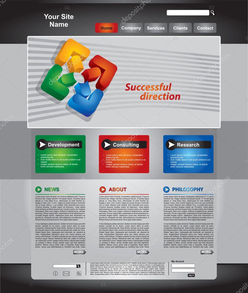 4a827c8a63122 conjunto de plantillas de página web de negocios — Vector de stock ...