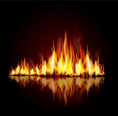 Background with a burning flame stock vector