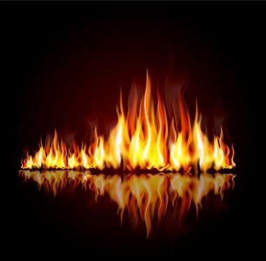 "Картина, постер, плакат, фотообои ""фон с горящим пламенем "", артикул 8722024"