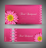 Fotografia Vector set of pink with flowers (template design element)
