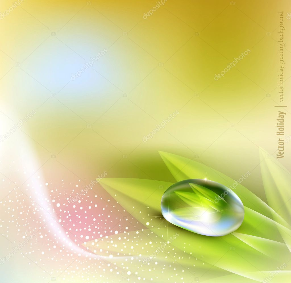 Vector background with pastel colors with a drop of dew