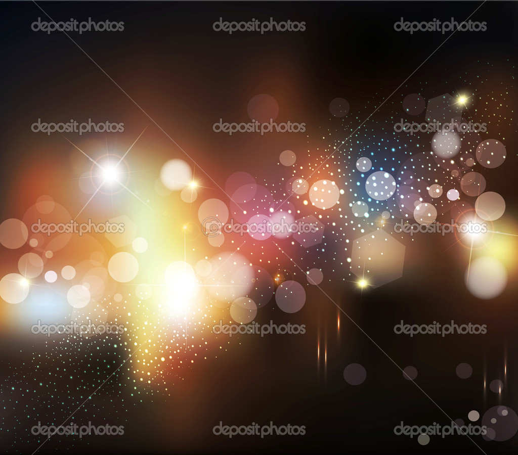 Vector abstract background with blurred defocused lights