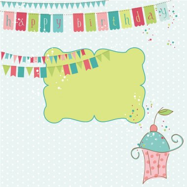 Retro Birthday Celebration Design Elements - for Scrapbook