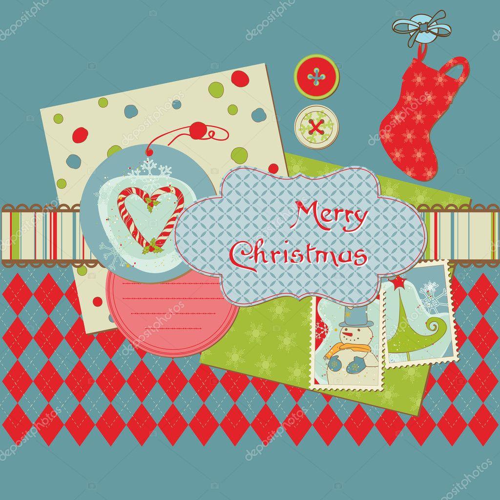 Weihnachten-Design-Elemente - für Scrapbook, Design, Einladung ...