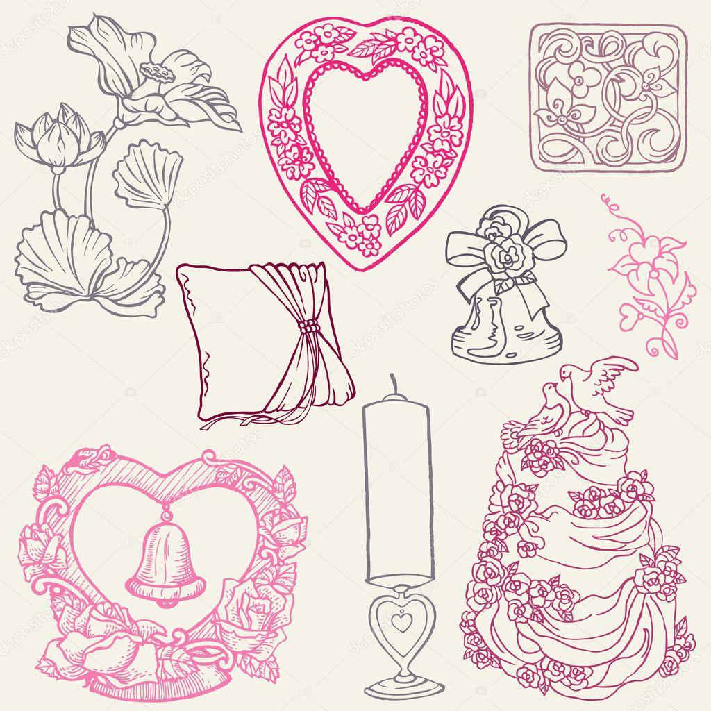 рисованные картинки свадьба