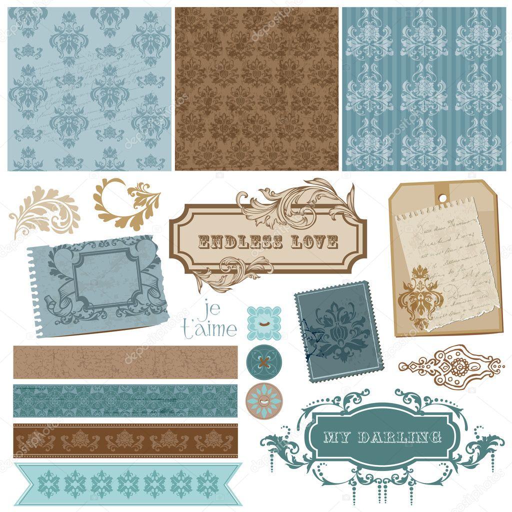elegante Scrapbook-Design-Elemente - Vintage Bilderrahmen und ...