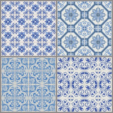 Seamless Vintage Background Collection -Victorian Tile in vector