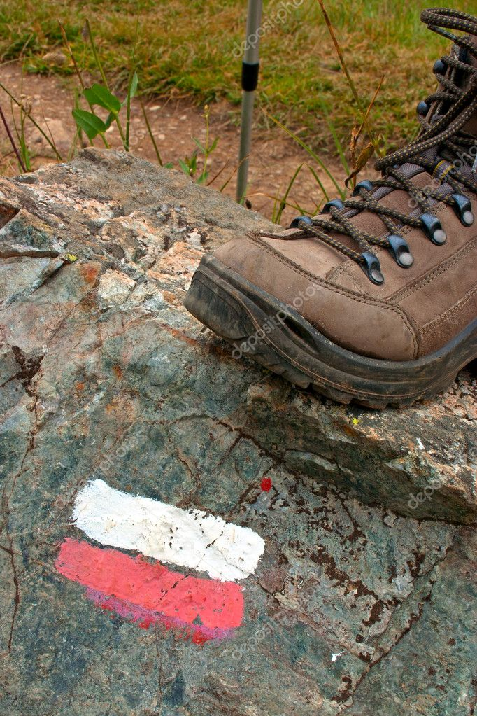 Trail Marker - Stick and Boot