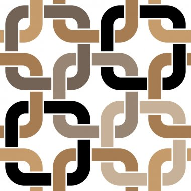 Brown twisted rings seamless pattern