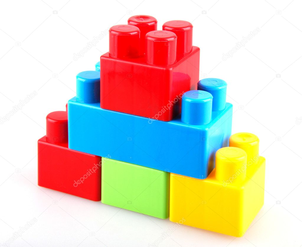 Plastic building blocks stock photo nenovbrothers for Large acrylic block