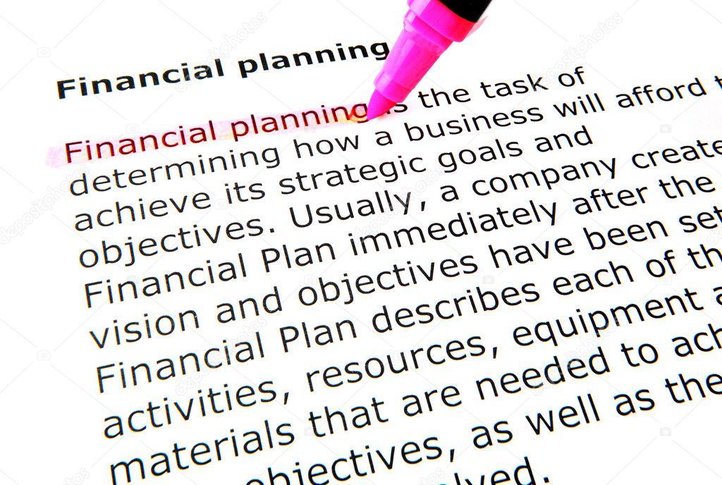 Financial planning — Stock Photo © nenovbrothers #9416436