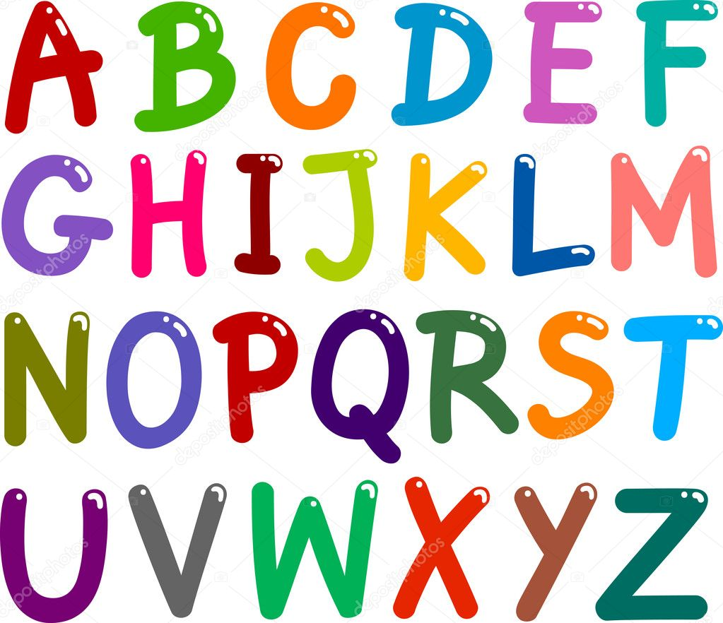 O U R D O L L H O U S E In 2019: Colorful Capital Letters Alphabet