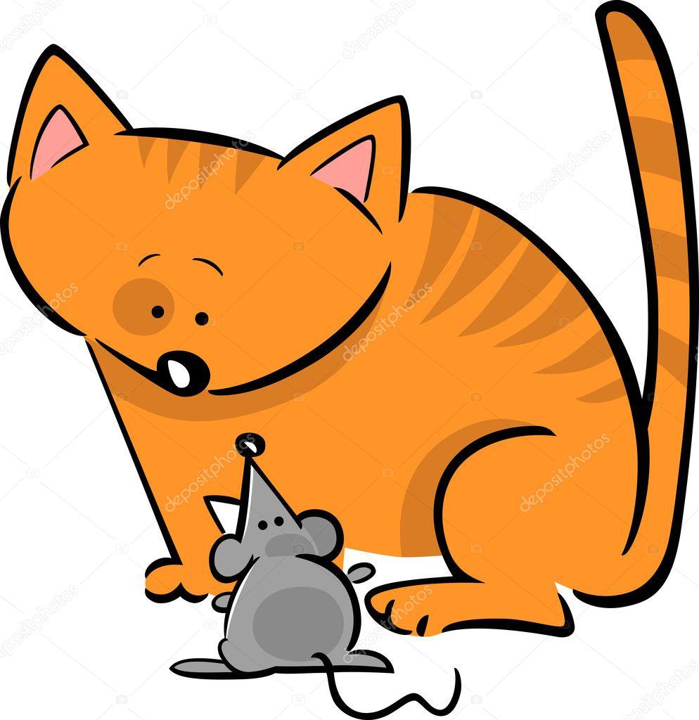 Рисунки кот и мыши