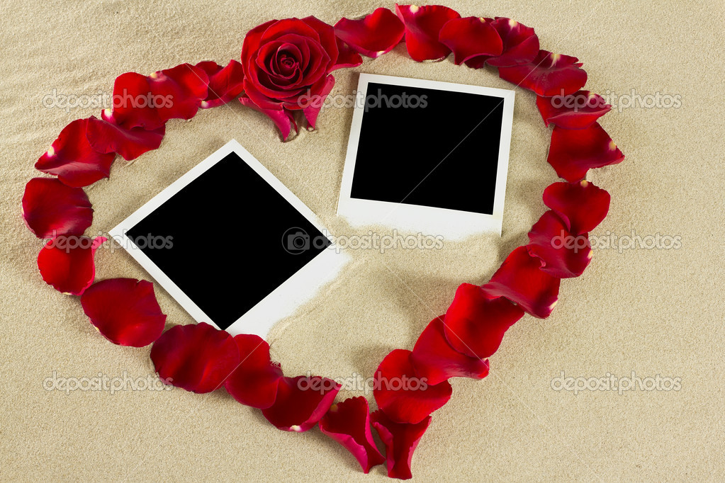 Beach love frame.