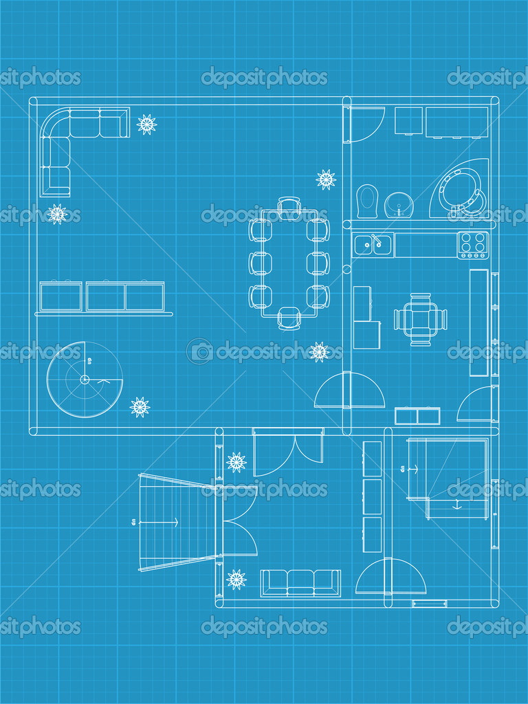 Building blueprint stock vector alexciopata 8986955 building blueprint stock vector malvernweather Choice Image