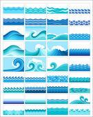 Fényképek Meghatározott témákban stilizált hullámok