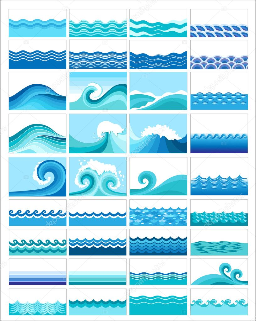 Set topics with stylized waves