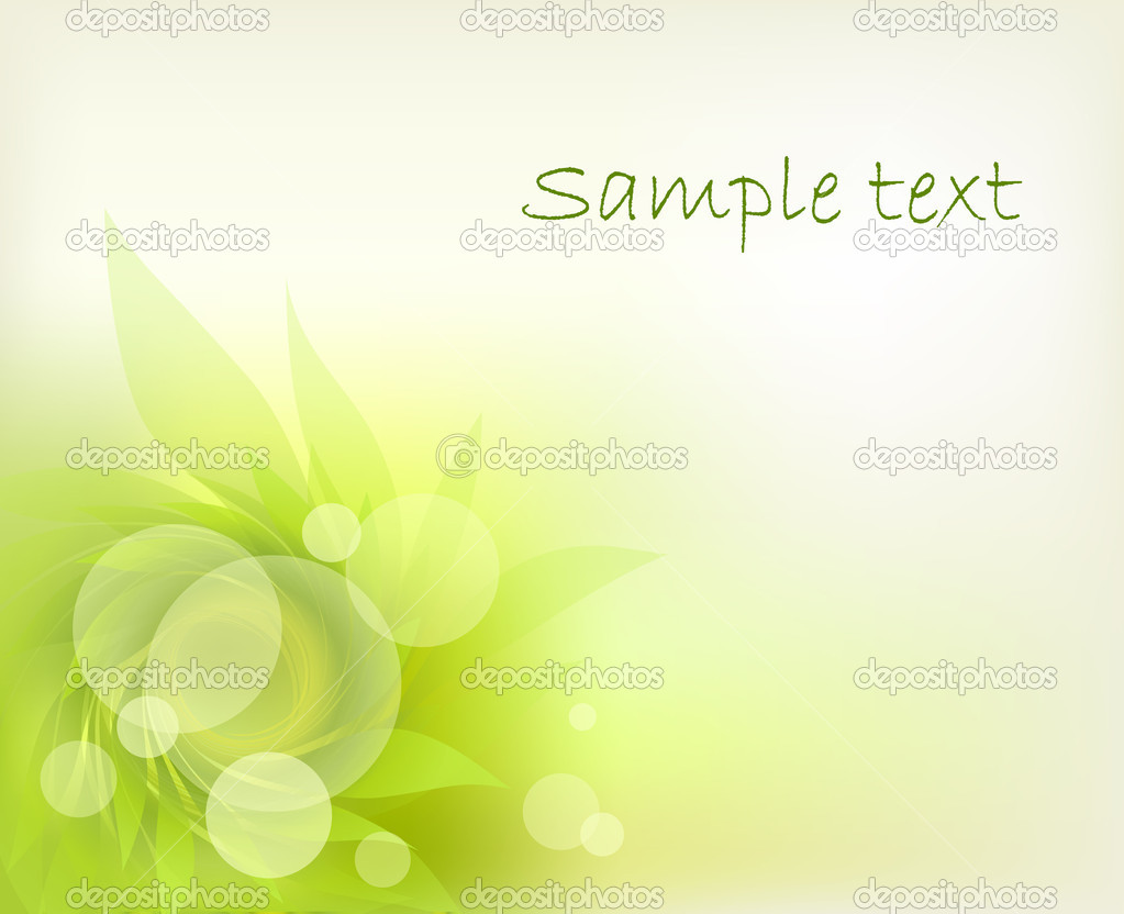 Abstract background green petal