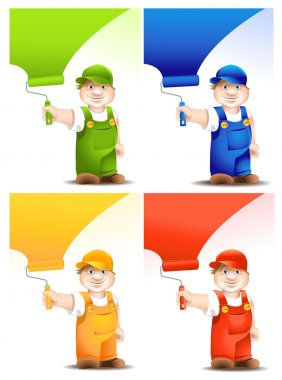 Worker cartoon