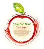 Fotografia mela rossa di disegno
