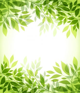 Abstract background with green sheet stock vector