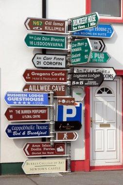 Many irish road signs