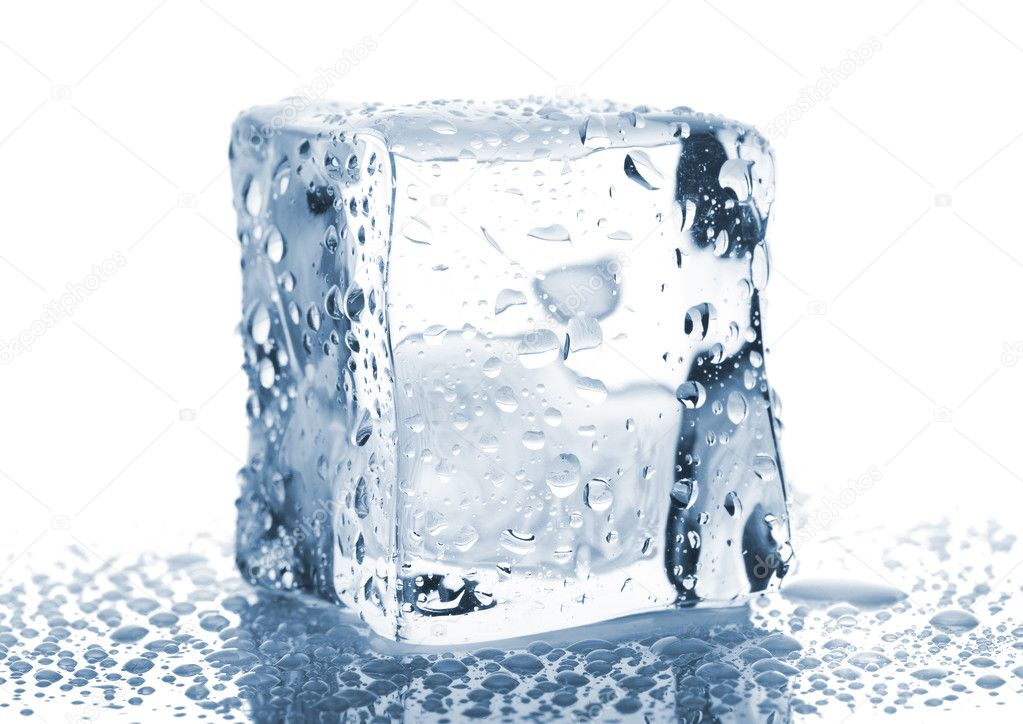 super cheap dirt cheap amazing price Single ice cube with water drops — Stock Photo © mbongo #8660923