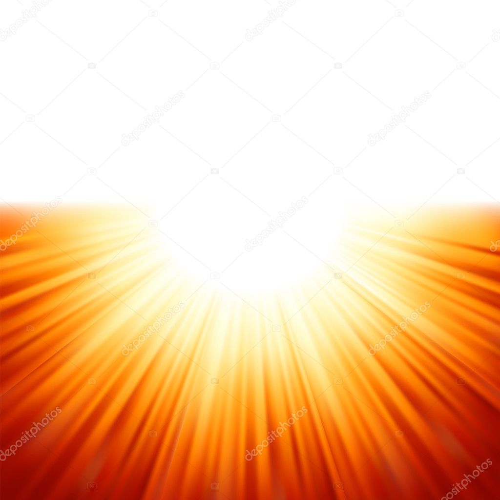 Sunburst rays of sunlight tenplate. EPS 8