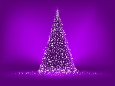 Abstract purple christmas tree on purple. EPS 8