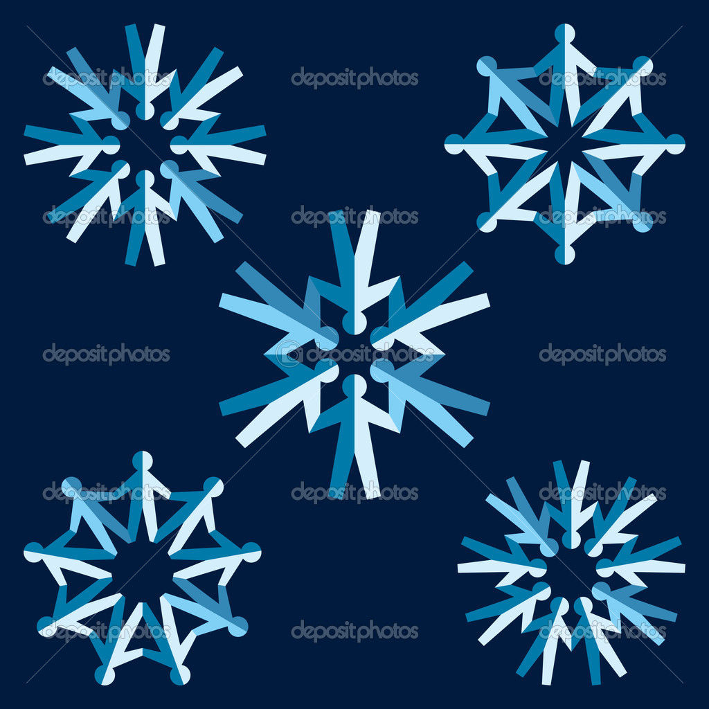 Set Of Origami Snowflakes Stock Vector Fixer00 8894306