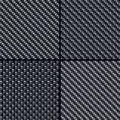 Fotografia set di modelli senza cuciture in fibra di carbonio