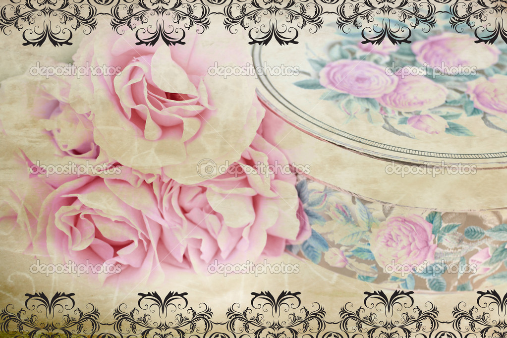 Lovely retro desing with roses