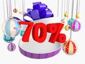 Vánoční dárek sedmdesát procent sleva