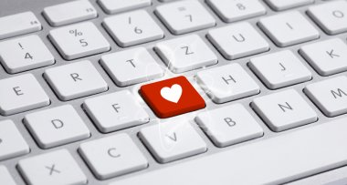 Keyboard with heart sign