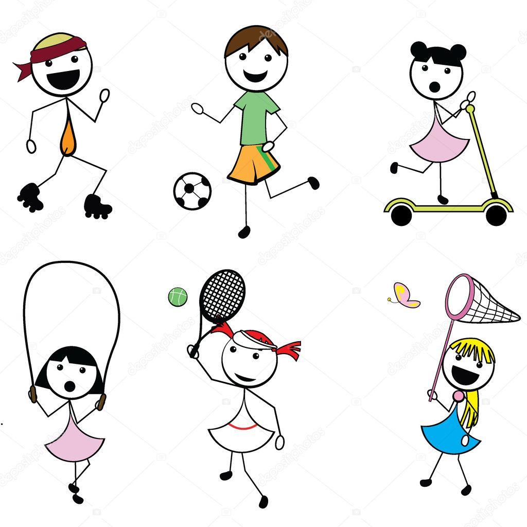 Afbeeldingsresultaat voor sporten cartoon