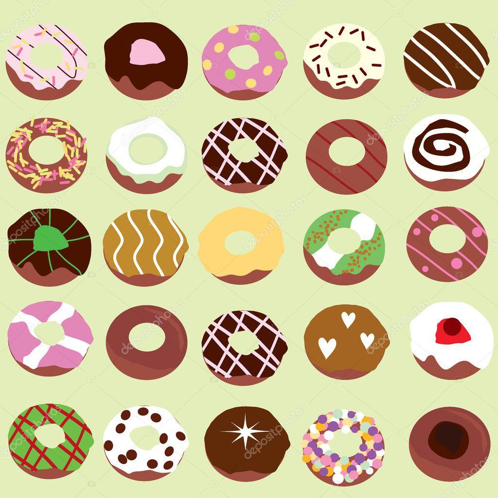 Фон пончик