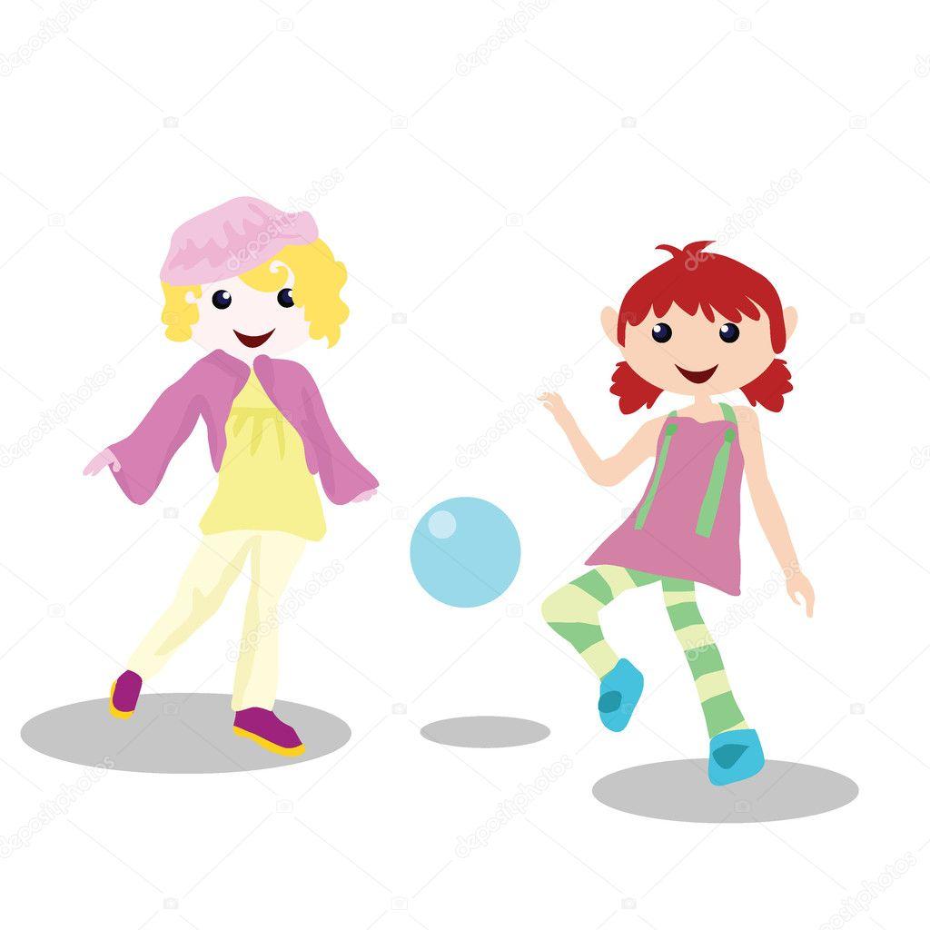 Actividades para ni os dibujos animados jugando a la - Dibujos infantiles de ninos jugando ...