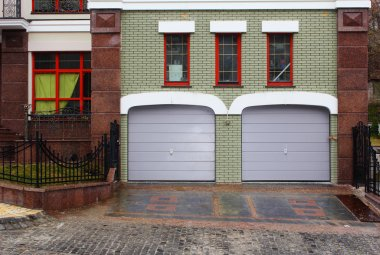 Modern garage entrance