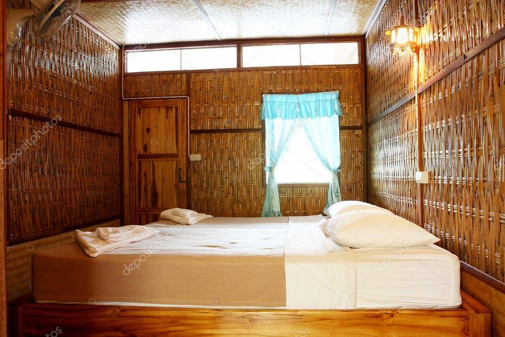 Bambus-Schlafzimmer — Stockfoto © guidenop #10043553