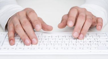 Typing at the keyboard