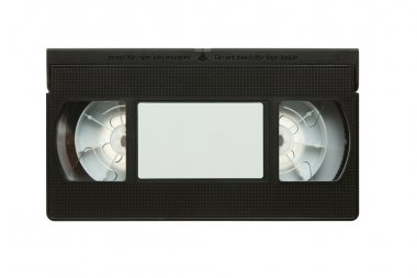 Retro blank vhs video cassette tape