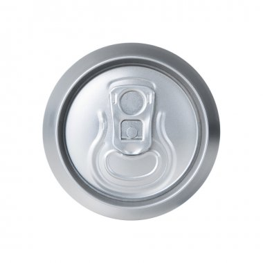 Top view of soda can