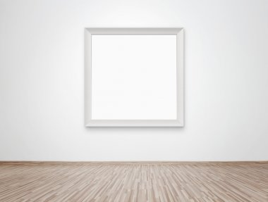 Blank frame at the wall