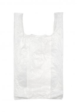 Plastic bag isolated on white