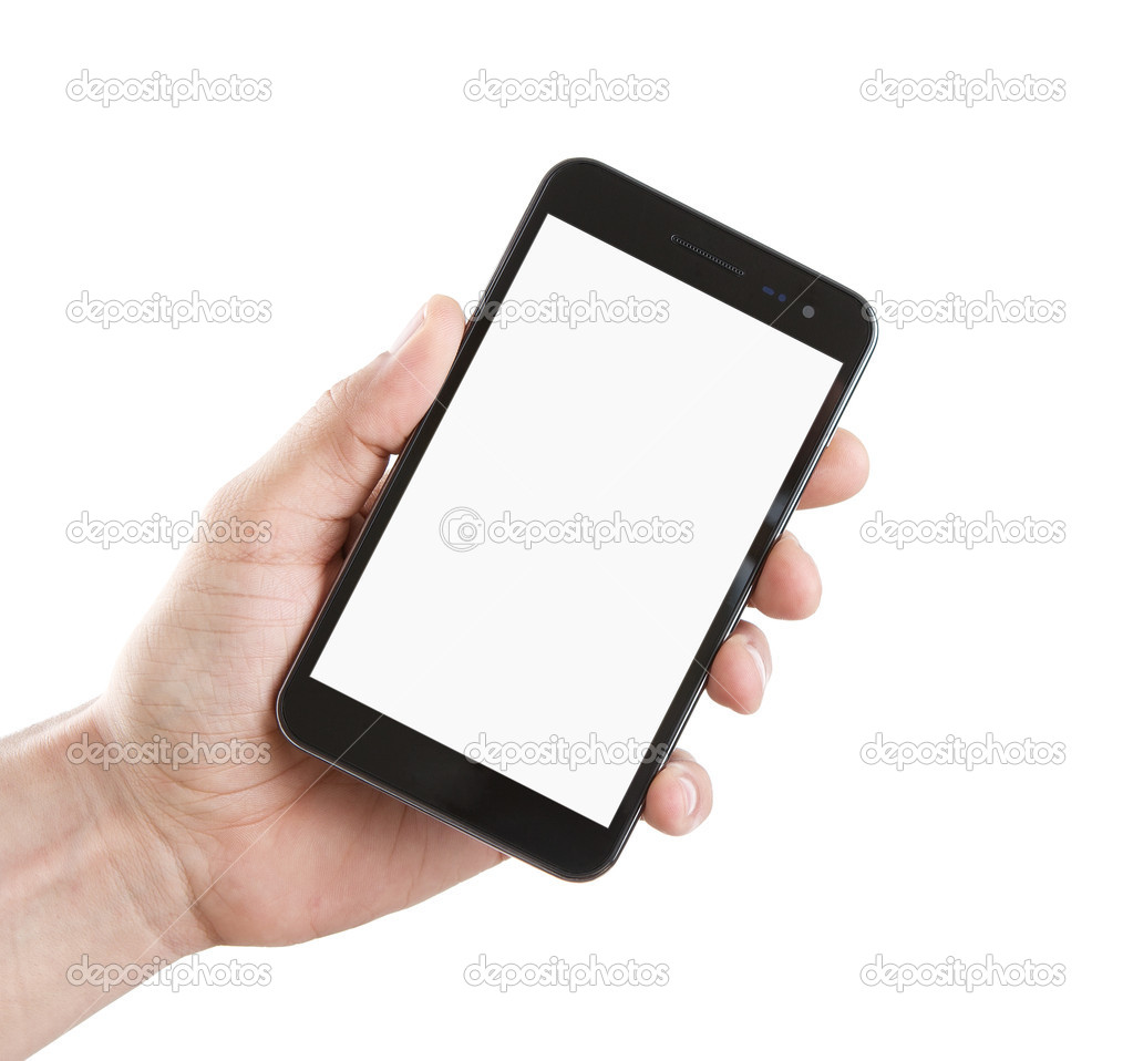 Blank smart phone with clipping